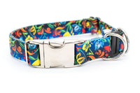 BREAKAWAY Personalized Summer Breeze Patterned Webbing Dog Collar