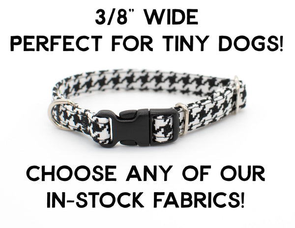 "3/8"" Choose-a-Fabric Dog Collar - for small dogs - standard flat buckle collar"