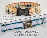UPGRADE  - Personalized Metal ID Buckle - Fox Valley Dog Collars