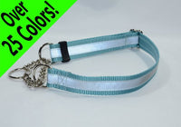 Reflective Chain (Half-Check) Martingale Dog Collar - Fox Valley Dog Collars