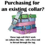 Built-In / Slide-On ID Tag - Fox Valley Dog Collars