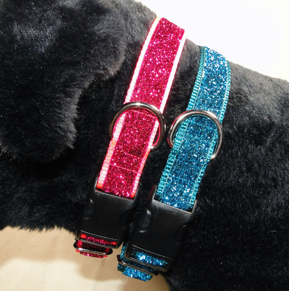 "Sparkle & Bling Adjustable Buckle Dog Collar - 1"" wide - Fox Valley Dog Collars"