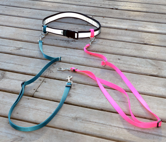 ULTA-Leash™ Hands Free Multi Dog Leash System - Reflective - Fox Valley Dog Collars