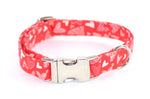 Valentine's Day Hearts Adjustable Dog Collar - Fox Valley Dog Collars