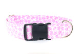 Pink Elephants Adjustable Dog Collar - Fox Valley Dog Collars