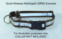 Quick Release Buckle Martingale Dog Collar Hardware Kit - D rings - Slides - Rectangle Rings - Buckle - Fox Valley Dog Collars
