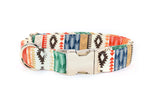 Tribal Aztec Arrows adjustable dog collar, 3 sizes