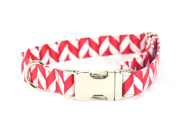 Peppermint Sticks Adjustable Dog Collar - Fox Valley Dog Collars