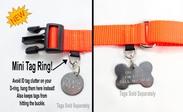UPGRADE - Mini Tag Ring - Fox Valley Dog Collars