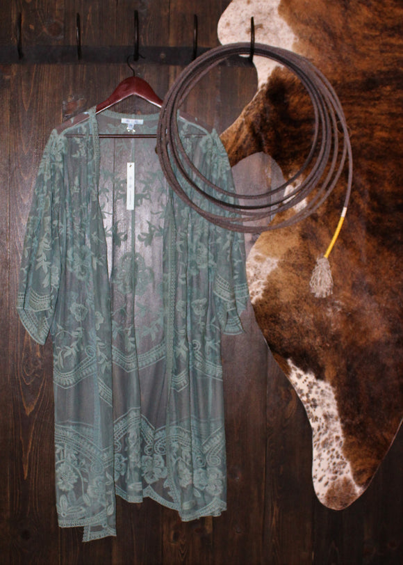 Slate Lace Duster