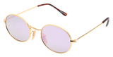 small round purple sunglasses