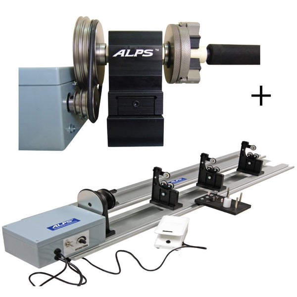 Exclusive Tackle:RWM 8 PHS - ALPS Rod wrapping machine with precision chuck