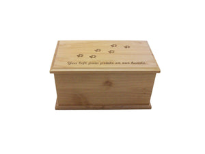 Alder Dog Prints Urn-Small