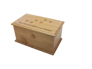 Alder Dog Prints Urn-Keepsake