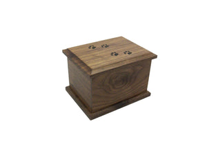 Walnut Cat Prints Urn