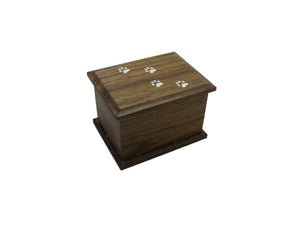 Walnut Dog Prints Urn