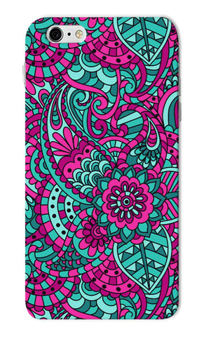Iphone 6s Plus - Teal Purple Floral Mobile Case