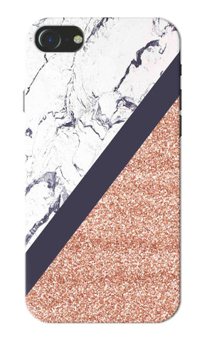Iphone 7 - White Marble Glitter Mobile Case
