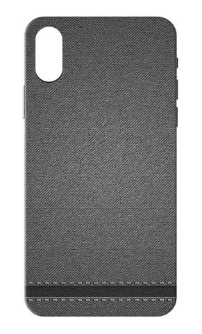 Iphone X - Grey Denim Texture Mobile Case