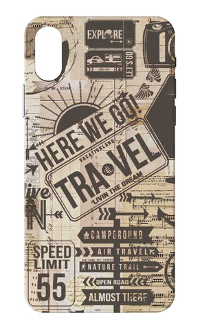 Iphone X - Travel Stickers Mobile Case