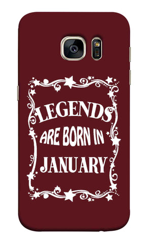 Samsung S7 - Legends Are Born In January Mobile Case