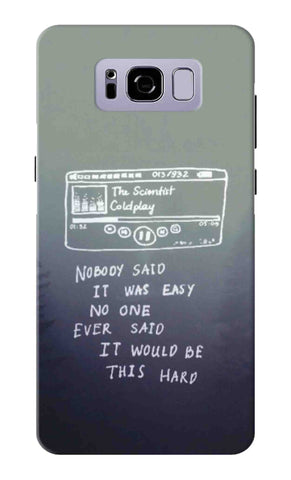 Samsung S8 - Coldplay Lyrics Mobile Case