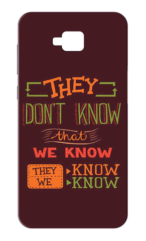 Zenfone 4 Selfie ZB553KL - They Dont Know That We Know Mobile Case