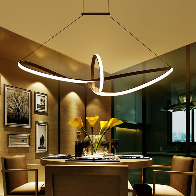 Statement Lighting Inside Striking Modern Statement Dimmable Led Dining Room Light With Remotecontrol Dimming
