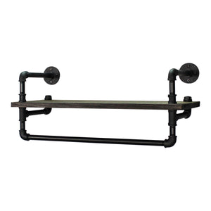Sarasota Farmhouse Industrial 6-Piece Shelf Rack Wall Shelf Bundle - H&R Lifestyle