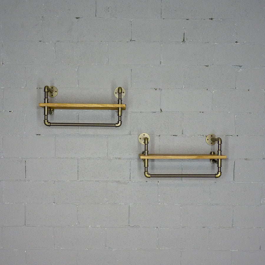 Denver 2-Piece Industrial Farmhouse Wall Shelf Rack Set - H&R Lifestyle