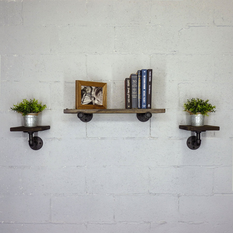 Cape Coral 3-Piece Multi-Purpose Farmhouse Industrial Wall Shelf  - H&R Lifestyle