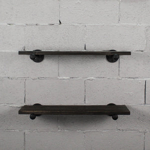 Honolulu 2-Piece Industrial Farmhouse Shelf Set - H&R Lifestyle