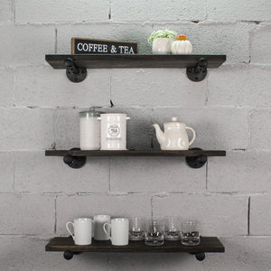 Colorado Springs 3-Piece Industrial Farmhouse Wall Shelf Bundle - H&R Lifestyle