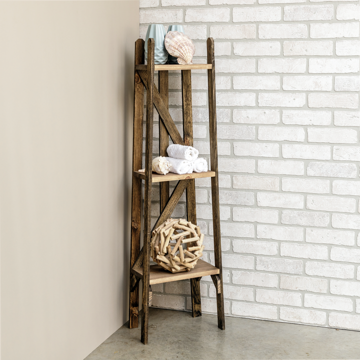 Tulip Reclaimed Finish Tiered Shelf