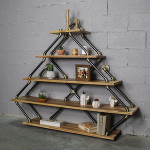 Norfolk Modern Industrial Tiered Etagere - H&R Lifestyle