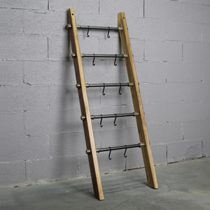 Williston Farmhouse Industrial Decorative Accent Leaning Ladder - H&R Lifestyle