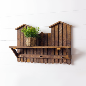 Gerbera Wall Mounted Coat Rack with Shelf - H&R Lifestyle