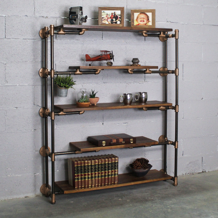 Warwick Modern Industrial Floating Tier Etagere - H&R Lifestyle