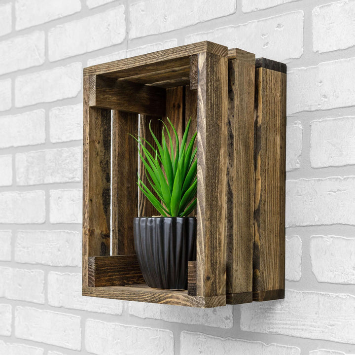 Chicory Solid Wood Crate Shelf