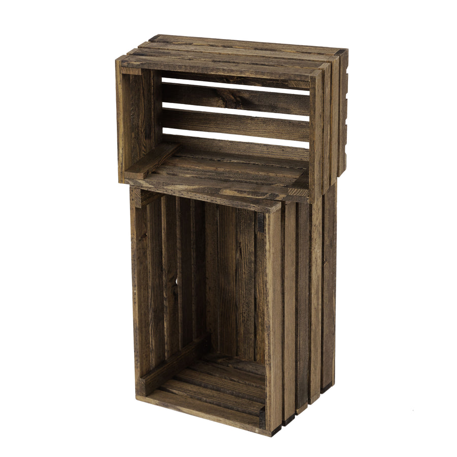 Hyacinth Two-Piece Wood Crate Bundle