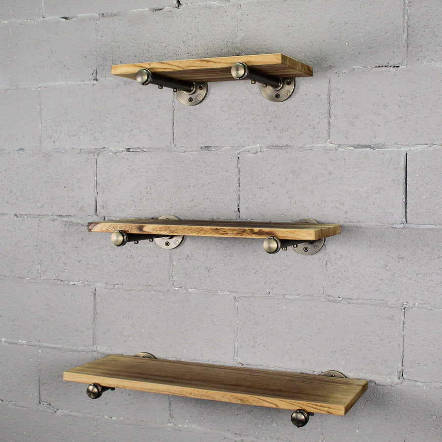 Somerville Farmhouse Industrial Wall Mounted Decorative Shelf