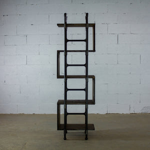 Tucson Modern Industrial Etagere Bookcase Display - H&R Lifestyle