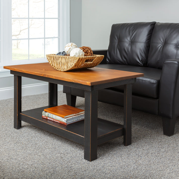 Azalea Solid Pine Coffee Table - H&R Lifestyle