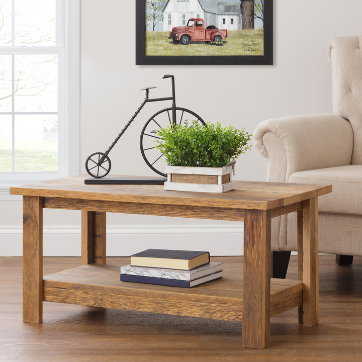 Zinna Rustic Reclaimed Oak Coffee Table - H&R Lifestyle