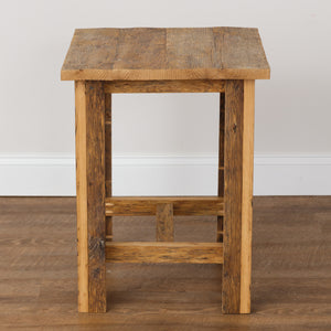 Iris Rustic Reclaimed Oak End Table - H&R Lifestyle