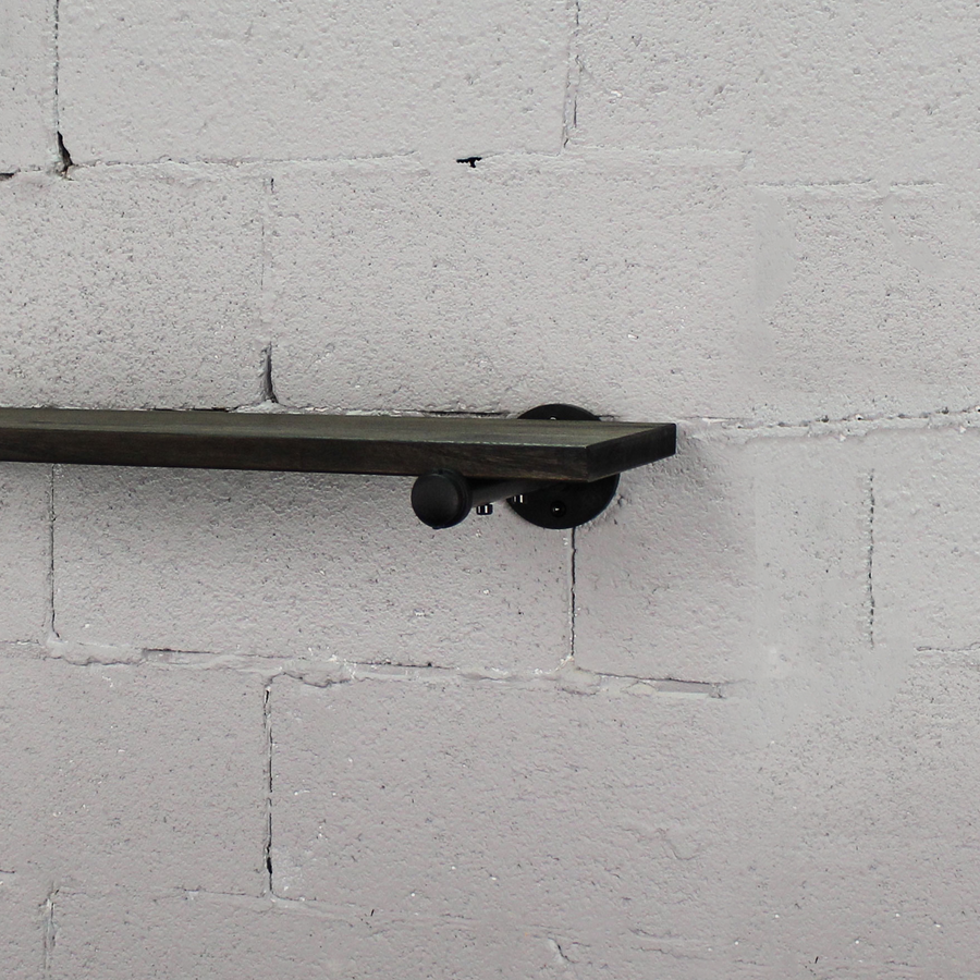 Somerville DIY Industrial Flat Wall Shelf Pipe Brackets - H&R Lifestyle
