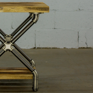 Houston DIY Industrial Side Table Pipe Legs - H&R Lifestyle