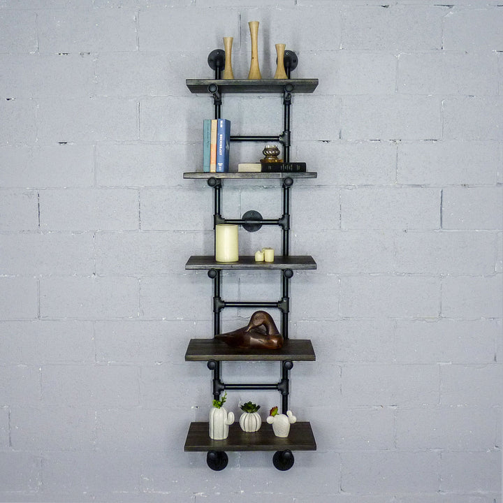 Phoenix Modern Industrial Ladder Wall Mounted Bookcase - H&R Lifestyle