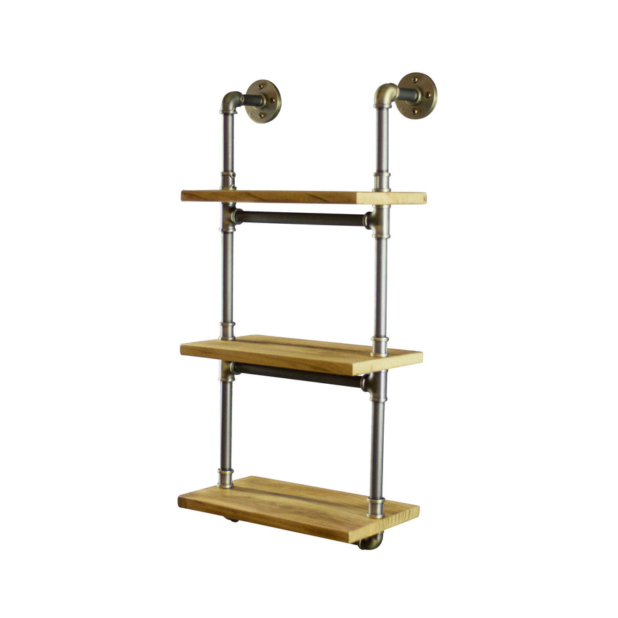 Juneau Farmhouse Industrial Wall Mounted Etagere Rack