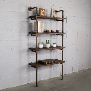 Sacramento Industrial Chic Etagere Bookcase - H&R Lifestyle